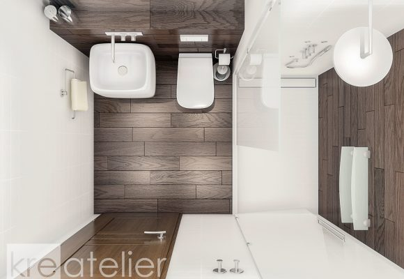 bathroom with built-in sanitary fixtures