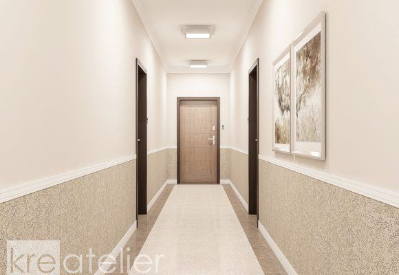 hallway design in an apartment building