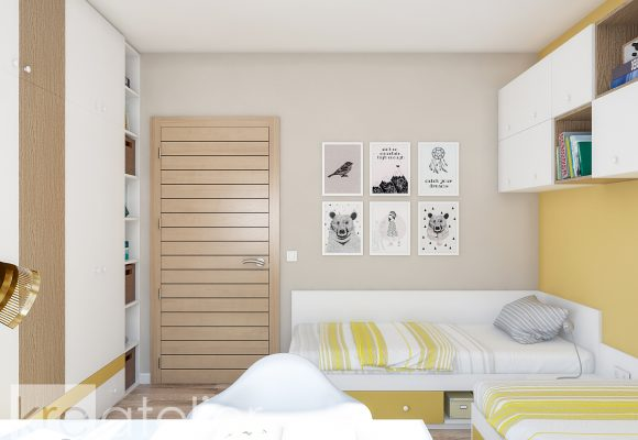 kids bedroom with two beds