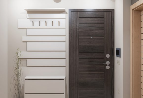 shoe cabinet with a coat rack